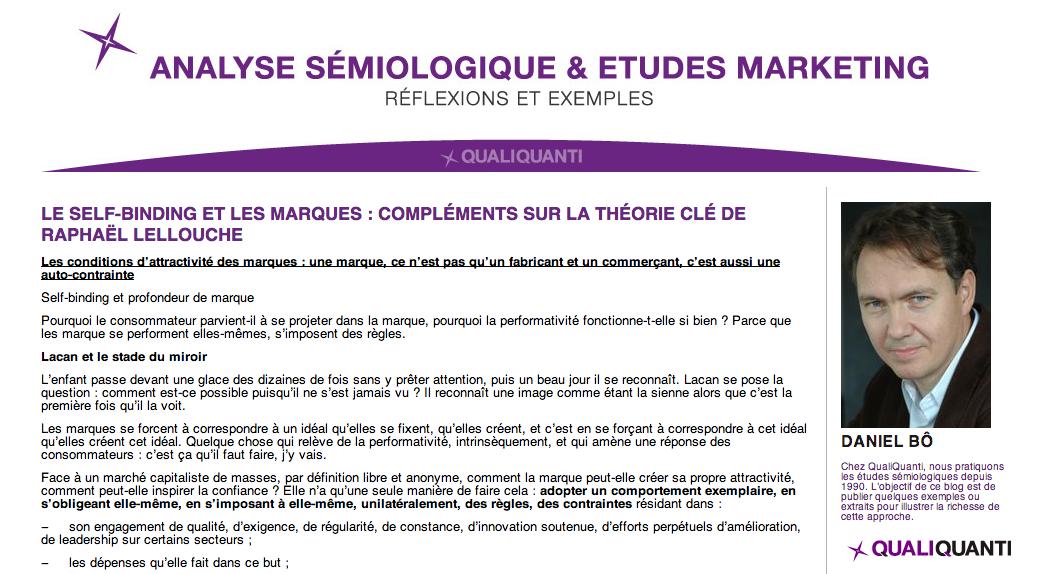 Blog analyse sémiologique