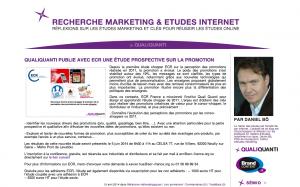 Blog marketing études