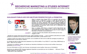 Blog marketing études